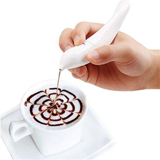 Cacao latte art pen