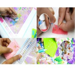 Diamond Painting pakket Rozen in vaas - 20x30cm - ronde steentjes