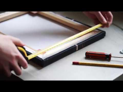 Meet je canvas goed na voor je een lijst maakt of koopt!