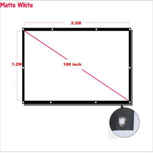 Projectiescherm voor beamer - 100 inch - Opvouwbaar - Beamer scherm - Projectie doek