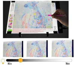 Diamond Painting Accessoire pakket - incl. A4 lightpad - 37 delig
