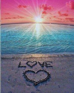 Schilderen op nummer pakket Strand zon love - 40 x 50 cm