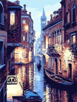 Schilderen op nummer pakket Venetie in de avond - 40 x 50 cm