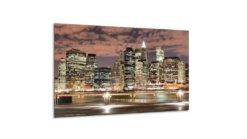 Glasschilderij Skyline van de stad -120 x 70 cm
