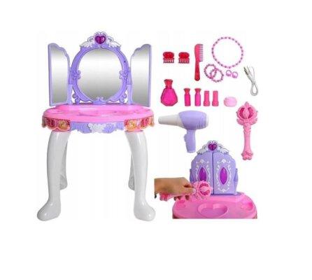 Make up tafel/ kaptafel voor kinderen - met spiegel, licht en geluid