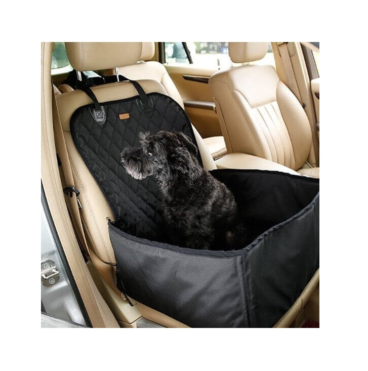 Autostoel voor hond en andere huisdieren - Stoelbeschermer - Zwart