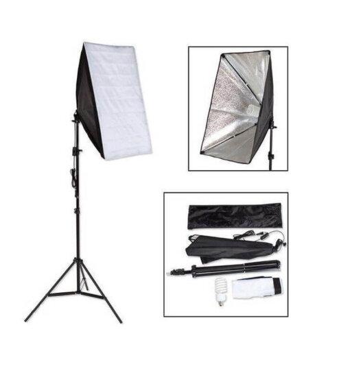 Studiolamp met softbox - incl. statief en draagtas