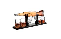 Whiskey karaf set - AK-47 geweer - met glazen