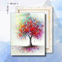 Schilderen Op Nummer pakket Boom van Regenboog Verf