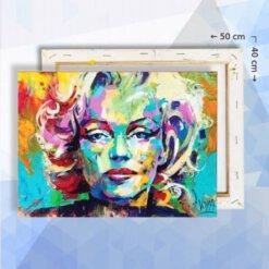 Schilderen op nummer pakket Marilyn Monroe - 40 x 50 cm - met frame