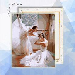 Schilderen op nummer pakket Ballerinas - 40 x 50 cm - met frame