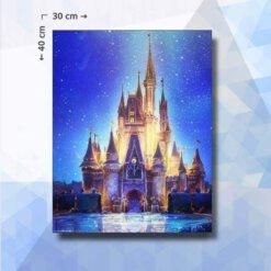 Diamond Painting pakket Disney Kasteel - vierkante steentjes - 30 x 40 cm