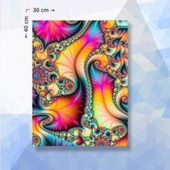 Diamond Painting Pakket Abstracte kleuren swirls - vierkante steentjes - 40x30 cm