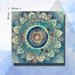 Diamond Painting pakket Blauwe Mandala Aarabisch - 40 x 55 cm - vierkante steentjes