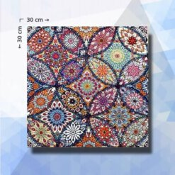 Diamond Painting pakket Bloemen Mandala - 30x30cm - ronde steentjes