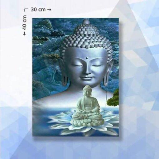 Diamond Painting pakket Boeddha in meditatie - 30 x 40 cm - vierkante steentjes