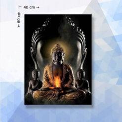 Diamond Painting Pakket Boeddha met vuur - 40 x 60 cm