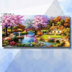 Diamond Painting Pakket Japanse en Engelse Lente - 100 x 50 cm