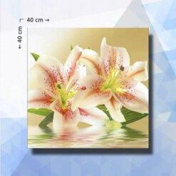 Diamond Painting pakket Lelies - 40 x 40 cm - ronde steentjes