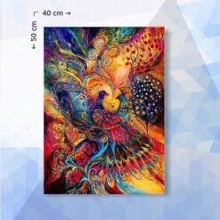 Diamond Painting pakket Magische pauwen tuin - 40 x 50 cm - ronde steentjes
