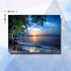 Diamond Painting Pakket Mangrove strand - 50 x 40 cm