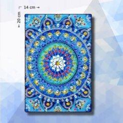 Diamond Painting notitieboekje pakket Blauwe Mandala