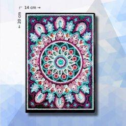 Diamond Painting notitieboekje pakket Paarse Mandala