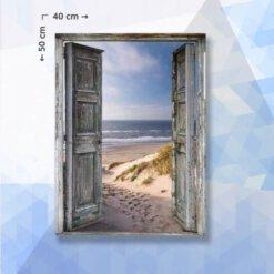 Diamond Painting Pakket Oude Deur naar Strand - 40 x 50 cm