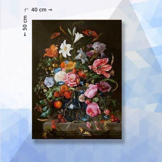 Diamond Painting pakket Wilde Bloemen in Vaas - 40 x 60 cm - vierkante steentjes